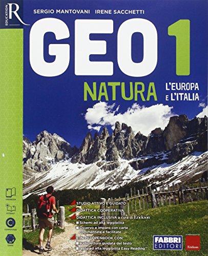 9788891523136: Geonatura. Atlante osservo e imparo-Extrakit-Openbook-Regioni d'Italia. Per la Scuola media. Con e-book. Con espansione online: 1
