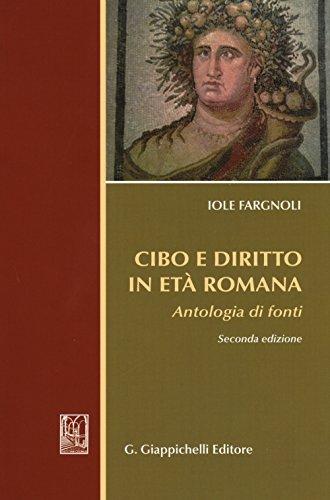 9788892100220: Cibo e diritto in età romana. Antologia di fondi