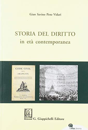 9788892103702: Storia del diritto in età contemporanea