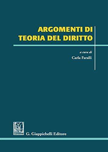 Argomenti di teoria del diritto: Carla Faralli