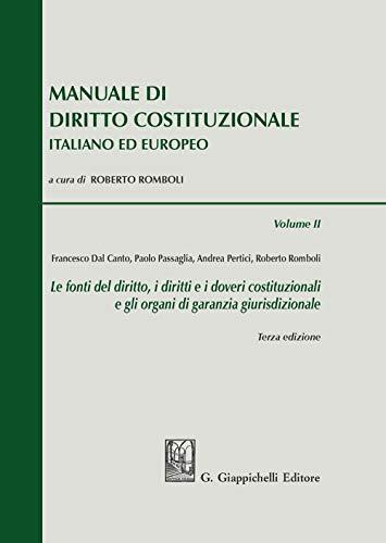 9788892118638: Manuale di diritto costituzionale italiano ed europeo: 2
