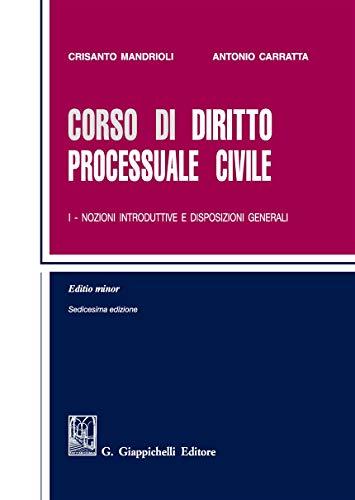 9788892120310: Corso di diritto processuale civile. Ediz. minore: 1