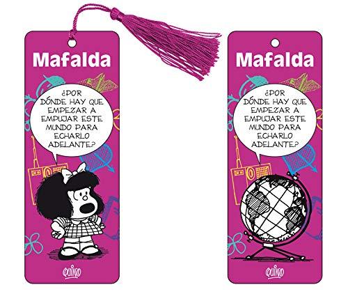 9788893677110: Marcapaginas 3D Mafalda (color violeta)