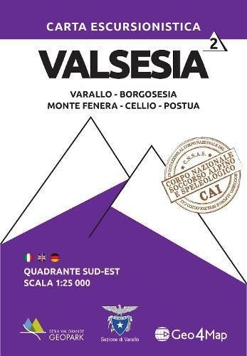 Carta escursionistica Valsesia quadrante Sud Est. Varallo,: Geo4Map Srl