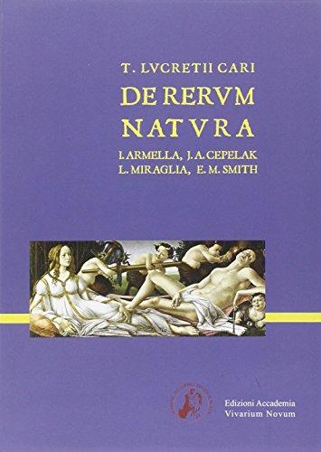 9788895611280: Lvcretivs De Rerum Natvra