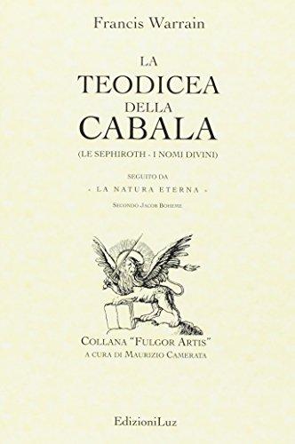 9788895976129: La teodicea della cabala (Fulgor artis)