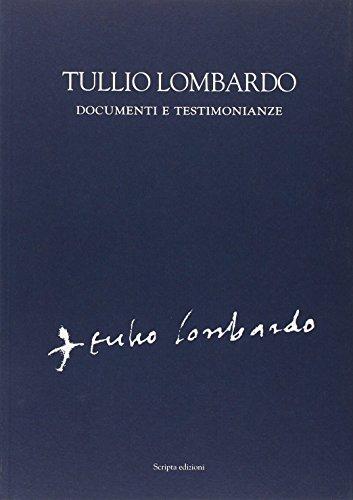 9788896162057: Tullio Lombardo. Documenti e testimonianze