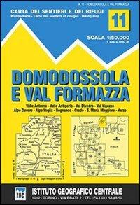 9788896455111: Carta n. 11. Domodossola e val Formazza 1:50.000. Carta dei sentieri e dei rifugi (Carta. Valli)
