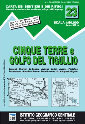 9788896455234: Cinque Terre and Golfo Del Tigullio Hiking Map (Carta Dei Sentieri E Dei Rifugi)