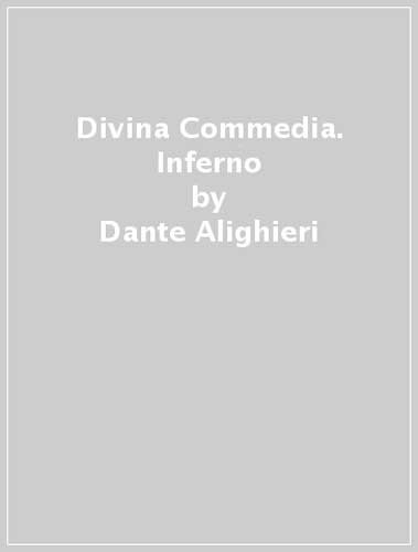 9788896563113: Divina Commedia. Inferno