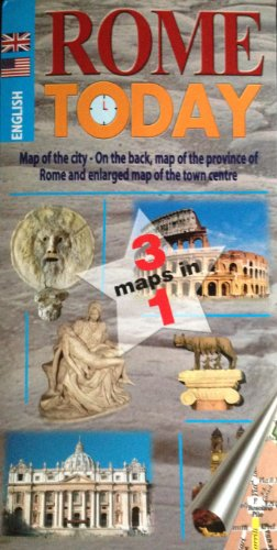 9788896620052: ROME TODAY Map-Guide Combo in English by Lozzi (English and Italian Edition)