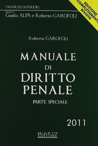 9788896814635: Manuale di diritto penale. Parte speciale