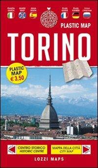 9788897467298: Laminated Map of Turin / Torino Plastic Map by Lozzi Editori (English, Spanish, French, Italian, German and Russian Edition)