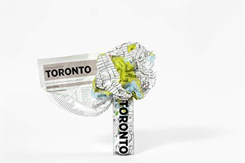 9788897487067: Crumpled city map. Toronto (Crumpled City Maps)