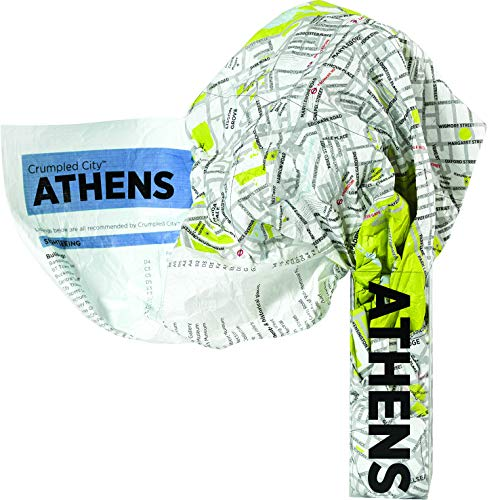 9788897487395: Athens Crumpled City Map (Crumpled City Maps)