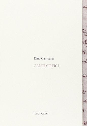 9788898367122: Canti orfici. Con Quaderno (rist. anast. 1914). Con CD Audio formato MP3