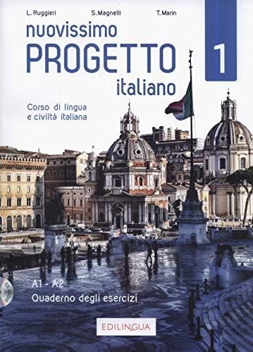 9788899358525: Nuovissimo Progetto italiano: Edizione per insegnanti. Quaderno + CD 1
