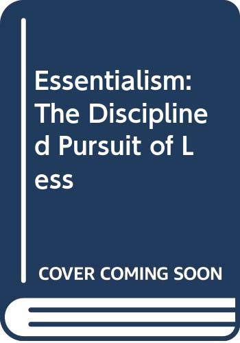 9788925553375: Essentialism: The Disciplined Pursuit of Less