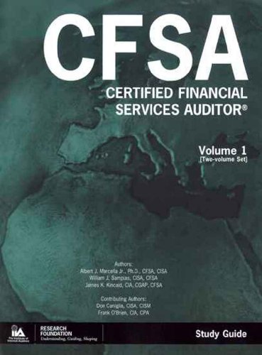 9788941352990: Certified Financial Services Auditor (CFSA) Study Guide