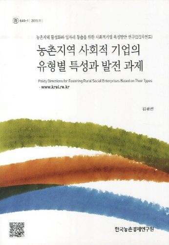 Types of social enterprises in rural areas, the characteristics and development challenges (Korean ...