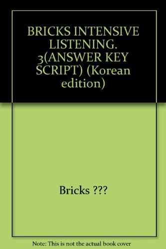 9788964350898: BRICKS INTENSIVE LISTENING. 3(ANSWER KEY SCRIPT) (Korean edition)