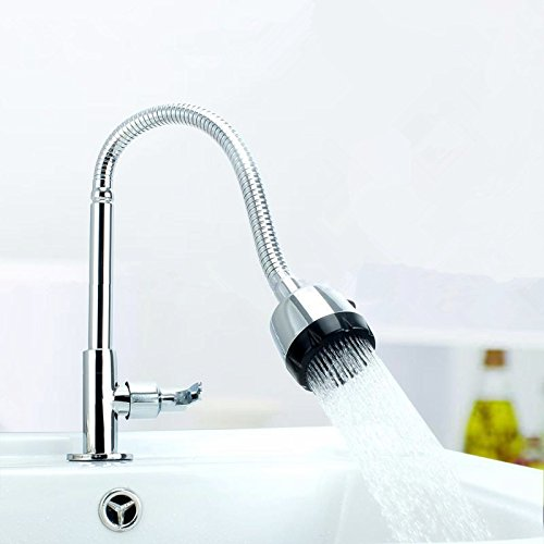 9788968787898: Creative personality environmental faucet?Red Red vertical copper single cold kitchen faucet sink basin faucet inlet pipe diameter: 14mm