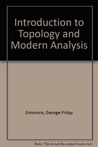 9788986175752: Introduction to Topology and Modern Analysis