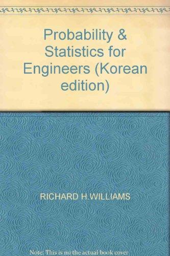 Probability & Statistics for Engineers (Korean edition): RICHARD H.WILLIAMS