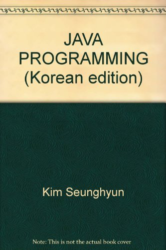 9788989345831: JAVA PROGRAMMING (Korean edition)