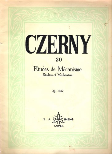 9788989359012: Master Czerny 30 etudes (Korean edition)