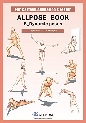 9788992273169: [Allpose Book] B_Dynamic poses (for comic,cartoon,manga,anime,illustration human body pose drawing techniques.) (Allpose Book Drawing Pose Resource : 24 Books Series)