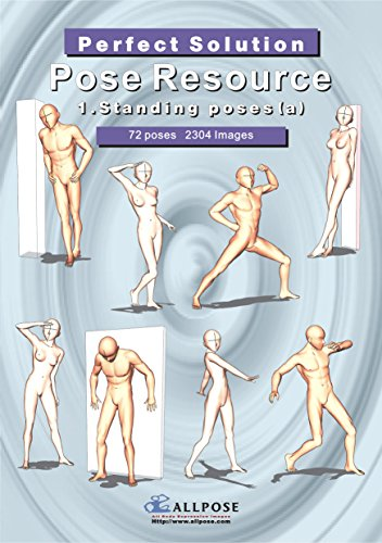 9788992273206: [Allpose Book] 1_Standing poses(a) (for comic,cartoon,manga,anime,illustration human body pose drawing techniques.) (Allpose Book Drawing Pose Resource : 24 Books Series)