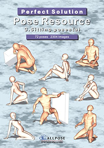 9788992273220: [Allpose Book] 3_Sitting poses(a)Cartooning Comic Character Figure Drawing. (Learn comic,cartoon,manga,anime,illustration human body pose drawing techniques.) (Pose Resource 24 Books)