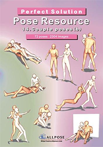 9788992273336: [Allpose Book] 14_Couple poses(b) (for comic,cartoon,manga,anime,illustration human body pose drawing techniques.) (Allpose Book Drawing Pose Resource : 24 Books Series)
