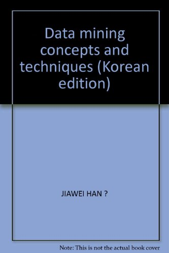 9788992603027: Data mining concepts and techniques (Korean edition)