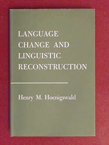 9789000075454: Language Change and Linguistic Reconstruction