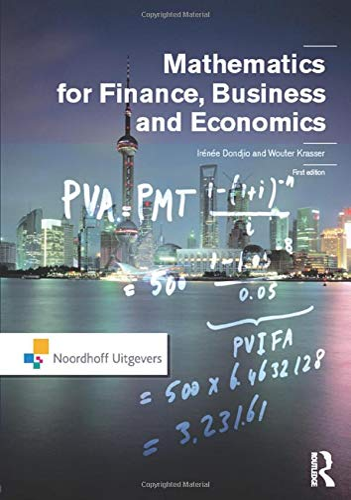 Mathematics for Finance, Business and Economics: Dondjio, Irenee; Krasser,