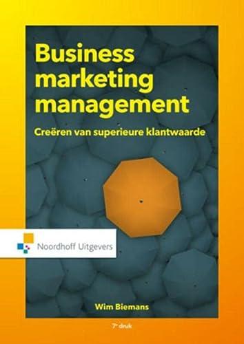 9789001863104: Business marketing management
