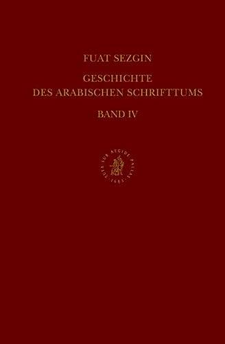 9789004020092: Geschichte Des Arabischen Schrifttums, Band IV: Alchimie-Chemie, Botanik-Agrikultur. Bis CA. 430 H