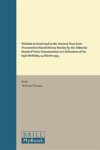 Wisdom in Israel and in the Ancient: the Editorial Board