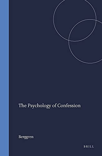 9789004042124: Psychology of Confession (Studies in the History of Religions)