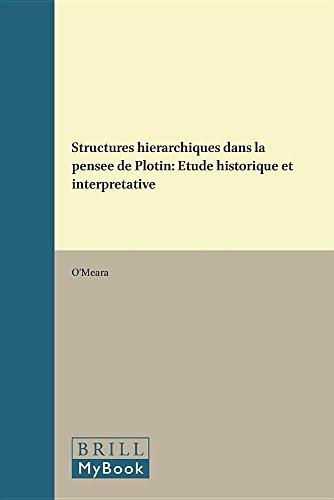 Structures Hierarchiques Dans la Pensee de Plotin: Etude Historique et Interpretative (Paperback): ...