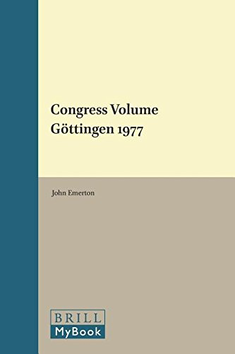 Congress Volume: Gottingen 1977: Not Available (Not Available)
