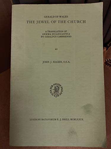 "9789004059658: Jewel of the Church: A Translation of ""Gemma Ecclesiastica"" (Davis Medieval Texts & Studies)"
