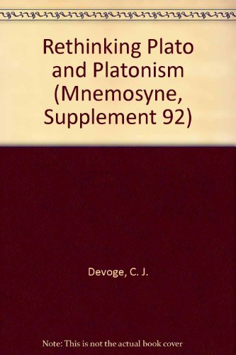 9789004076914 Rethinking Plato And Platonism Mnemosyne Supplement 92