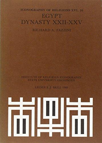 EGYPT DYNASTY XXII-XXV : ICONOGRAPHY OF RELIGIONS: Brill, Leiden