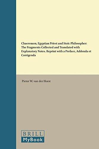 9789004085015: Chaeremon, Egyptian Priest and Stoic Philosopher: The Fragments (Etudes Preliminaires Aux Religions Orientales Dans L'Empire Romain)