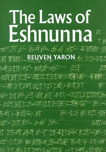 The Laws of Eshnunna (Hardback): Reuven Yaron