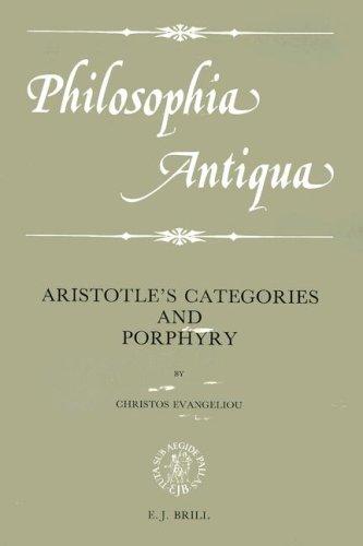 9789004085381: Aristotle's Categories and Porphyry (Philosophia Antiqua 48)