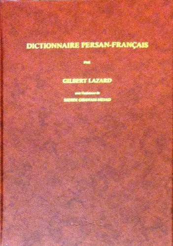 9789004085497: Dictionnaire Persan-Francais (French Edition)